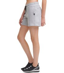 dkny cotton drawstring shorts