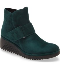 women's fly london labe bootie, size 7.5-8us - green