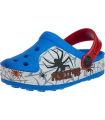 babuche infantil sandália aranha faceboot azul