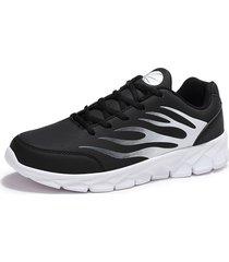 scarpe da ginnastica sportive da uomo in pelle di grandi dimensioni