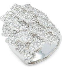 18k white gold & diamond cocktail ring