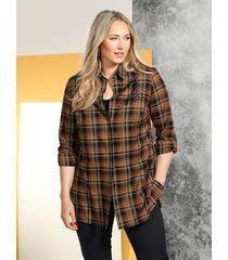 blouse miamoda zwart::bruin