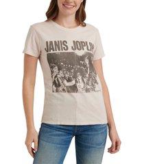 lucky brand cotton janis-joplin-graphic t-shirt