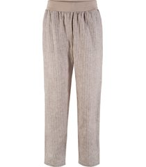 pantaloni in misto lino maite kelly (marrone) - bpc bonprix collection