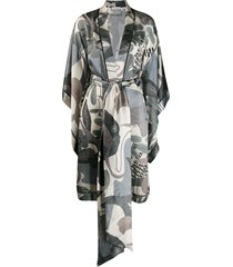 carine gilson butterfly sleeve kimono - green