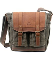 tsd brand turtle ridge 4-pocket canvas crossbody bag