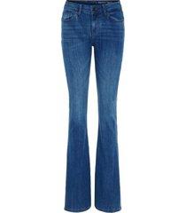 noisy may blå denim normal waist bootcut jeans