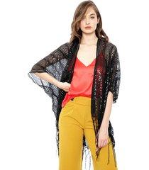 kimono eclipse shiny negro - calce holgado