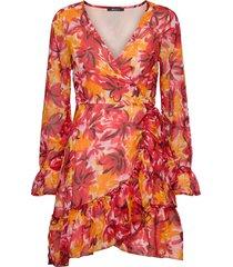 julianna wrap dress kort klänning multi/mönstrad gina tricot