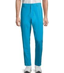 j. lindeberg men's ellott tight micro stretch trousers - dark mocca - size 34 32