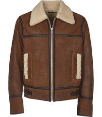 sheepskin jacket with straps