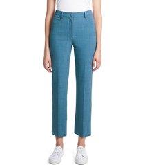 theory women's straight-leg chambray trousers - chambray - size 16