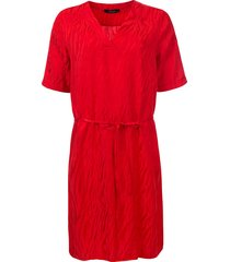 dayz darla jacquard jurk rood