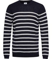 dawson 6294 gebreide trui met ronde kraag blauw nn07