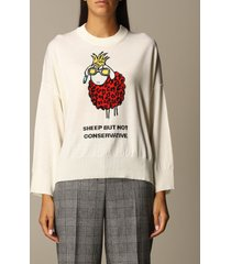 boutique moschino sweater moschino boutique pullover in virgin wool with sheep
