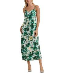 lucky brand natalie floral-print slip dress
