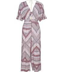 boho stripe jumpsuit jumpsuit paars seafolly