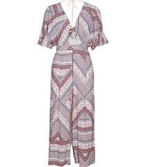 boho stripe jumpsuit jumpsuit paars seafolly