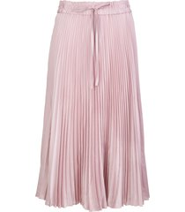 red valentino pleated skirt in light pink fluid crepe