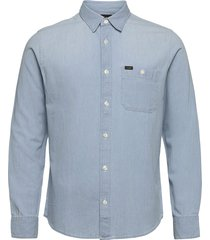 lee pocket shirt overhemd casual blauw lee jeans