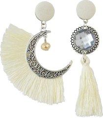orecchini etnici asimmetrici con nappe orecchini con ciondoli in cristallo di boemia e luna orecchini pendenti per le donne