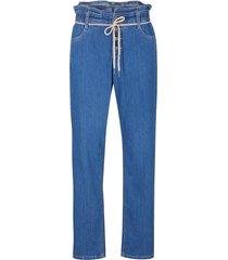 jeans baggy con cinta comoda (blu) - bpc bonprix collection