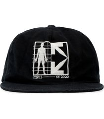 off-white baseball hat with flat visor