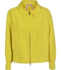 n.21 side slit pocket cropped jacket
