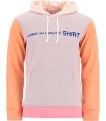 comme des garçons shirt logo sweatshirt with hood