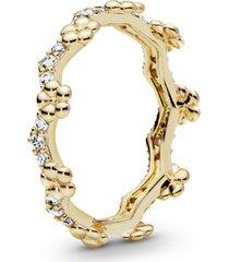 anel pandora shine tiara de flores