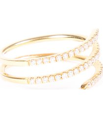 bony levy 18k yellow gold diamond coil ring gold sz: 4.5-5
