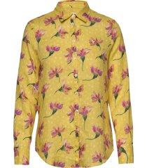 kirsten liberty linen shirt overhemd met lange mouwen geel morris lady
