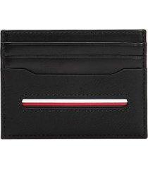 tommy hilfiger men's stripe credit card holder black -