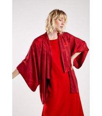 kimono est floral croqui red sacada