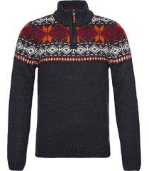 pullover knitwear half zip jumpers blå blend