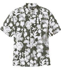 camicia hawaiana a manica corta regular fit (verde) - rainbow