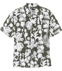 camicia hawaiana a manica corta regular fit (verde) - rainbow