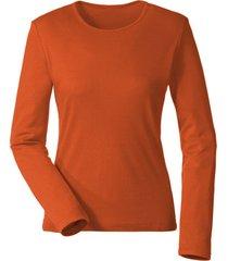 biologisch katoenen shirt met ronde hals en lange mouwen, papaja 40/42