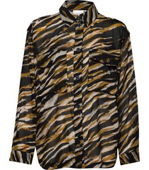 crisantagz shirt ao20 overhemd met lange mouwen multi/patroon gestuz