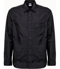 camicia aspesi in nylon nero