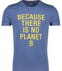 ecoalf t-shirt ocean blue 'natal because classic'