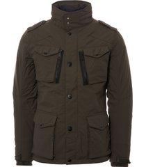 schott nyc four pocket field jacket - khaki janw1803