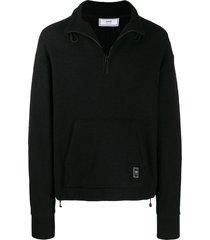 ami paris boiled wool sweatshirt - black