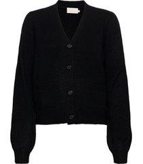 angie knit cardigan stickad tröja cardigan svart minus