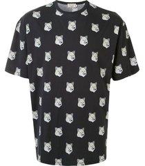 maison kitsuné pastel fox head t-shirt - blue