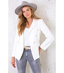 button blazer offwhite