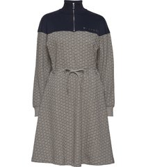 nanne dress knälång klänning grå blanche