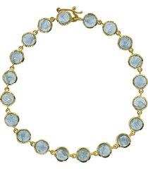 fine aquamarine bracelet