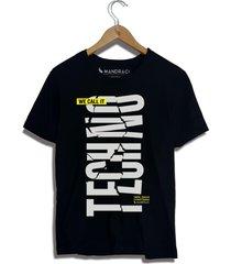 camiseta techno mandrac preta - preto - masculino - algodã£o - dafiti