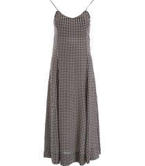 ganni vichy dress
